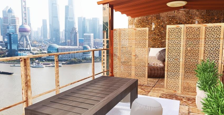 2 Bedroom apartment in the City Interior Design Render