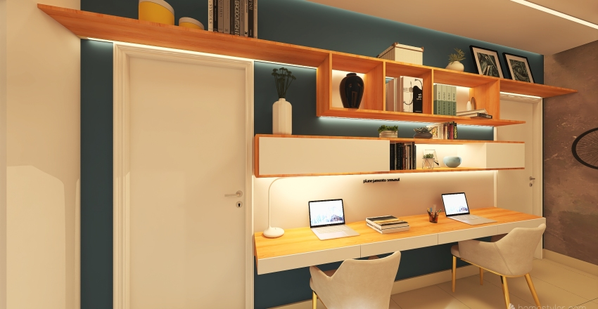 #HSDA2020Residential HALL/HOMEOFFICE Interior Design Render
