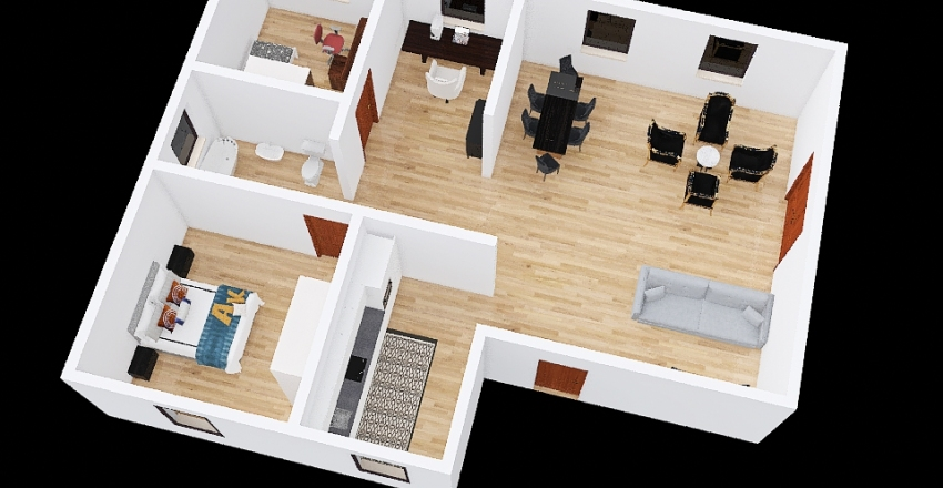 casa mattia Interior Design Render