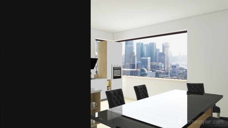 Kitchen/Dining Room  Interior Design Render
