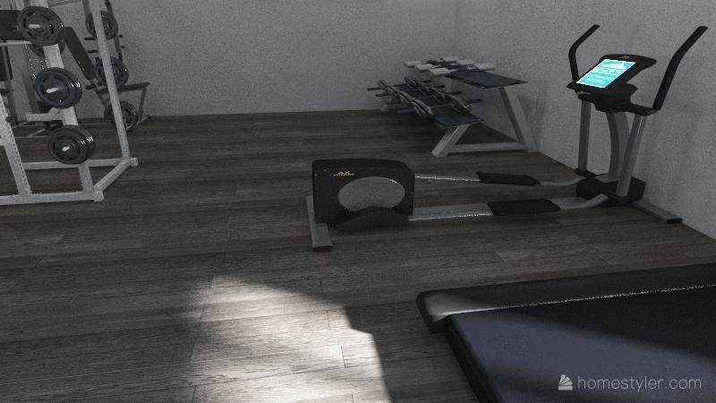 este es el salon Interior Design Render