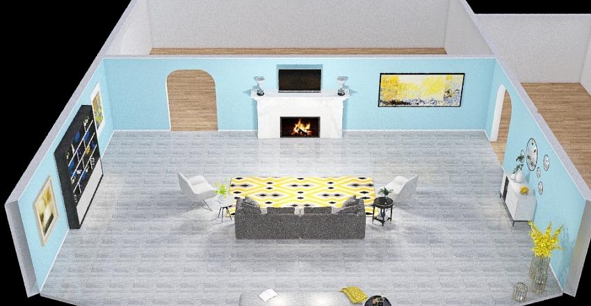 Practice Digital Floorplan Interior Design Render
