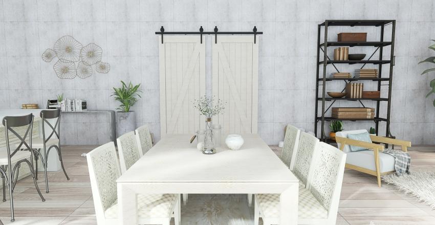#HSDA2020Residential Living room/ Kitchen Interior Design Render