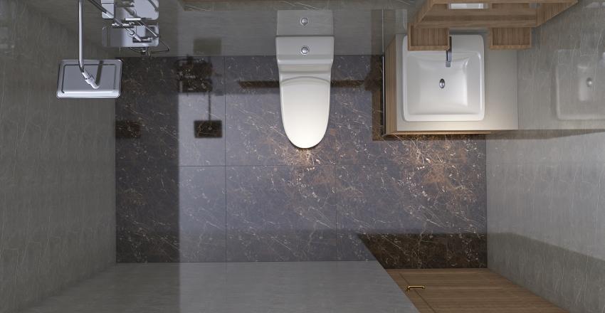 Bathroom 9' x 5' Interior Design Render