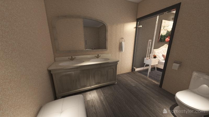 Habitación estilo romántico Interior Design Render