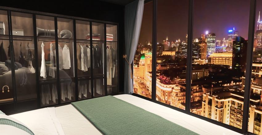 James Bond Bedroom Interior Design Render