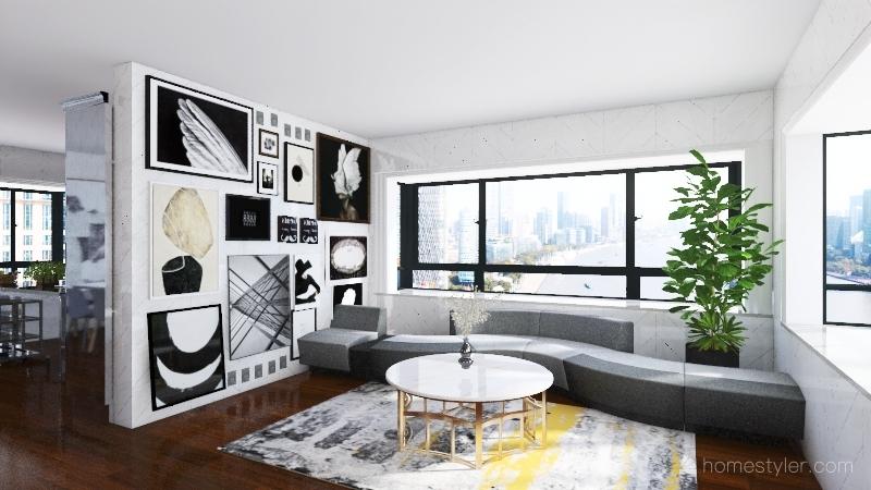 Modern area Interior Design Render