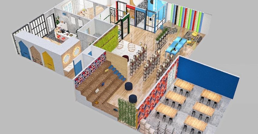 ESPACIO COWORKING Interior Design Render