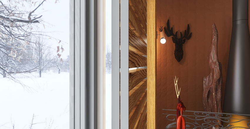 frozen house Interior Design Render