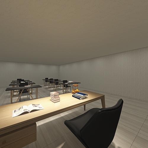 Aula de clases Interior Design Render