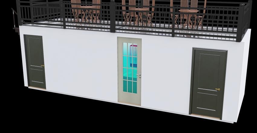 dos locales con bano 8 metros Interior Design Render