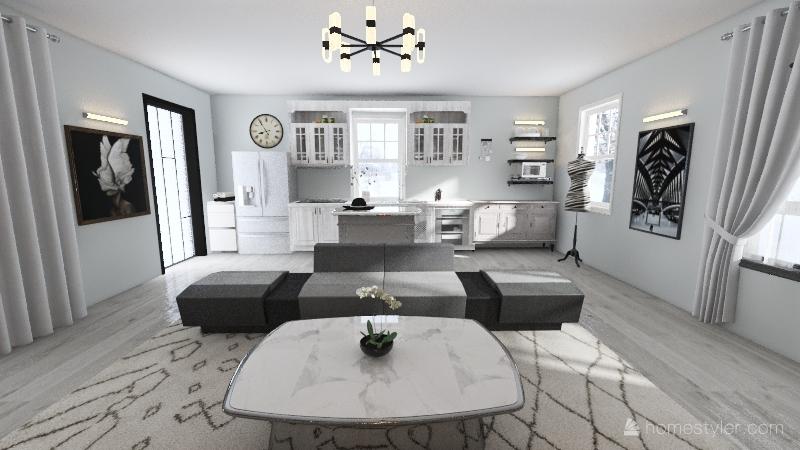 Crystal winter Interior Design Render