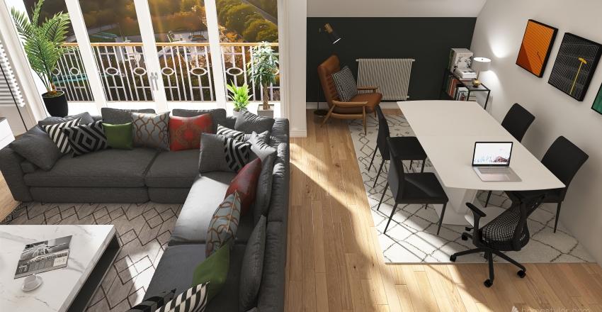 Andrew Camden flat Interior Design Render