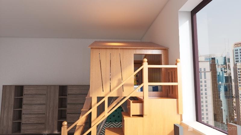 Kids bedroom Interior Design Render