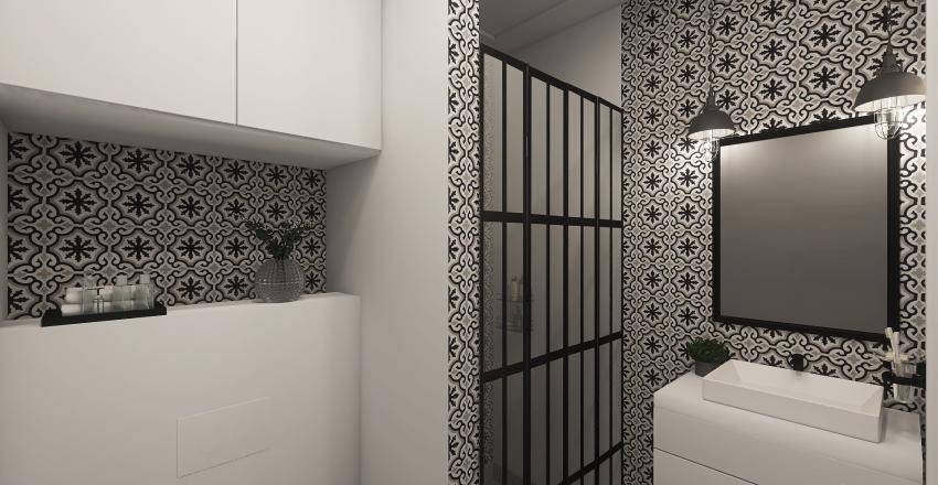 Flate green Interior Design Render