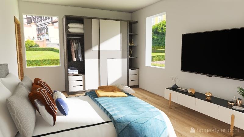 MODERN APARTMENT LIVING ROOM Interior Design Render