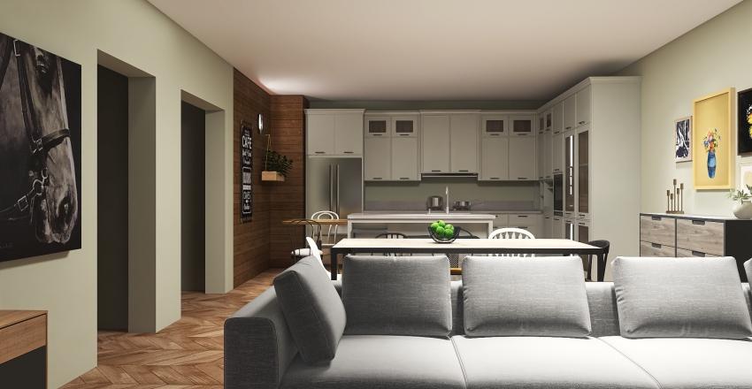 modern living area Interior Design Render
