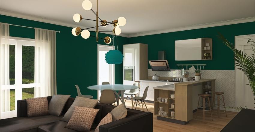 appartamento fiori Interior Design Render
