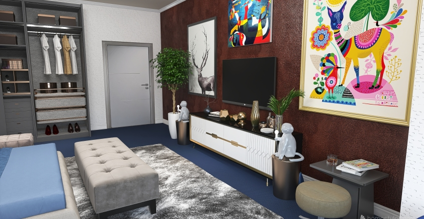 План квартиры №1 Interior Design Render