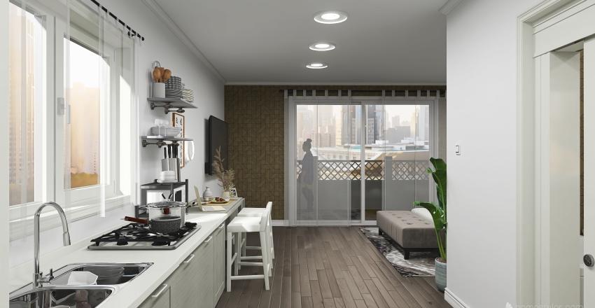 Studio apartment floorplan inspired by @enniferdentale.jd Interior Design Render