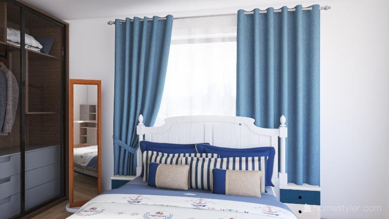 Ship Bedroom Interior Design Render
