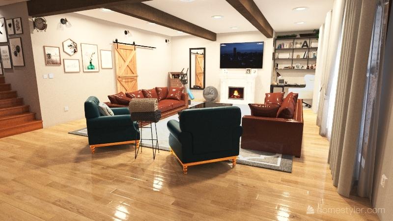 Quarantine-Dream Living Room Interior Design Render