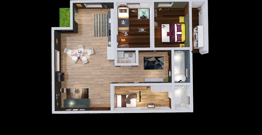 casa francesco  piano Interior Design Render