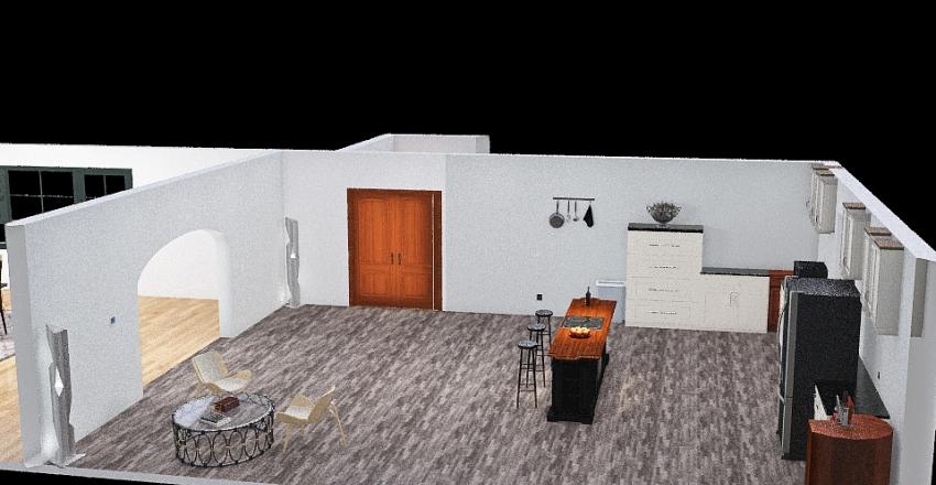 Copy of Kitchen / Dining room floor plan Interior Design Render