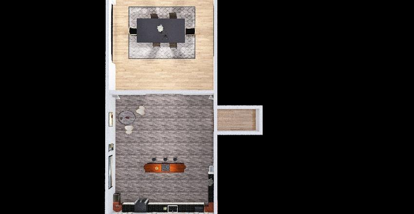 Kitchen / Dining room floor plan Interior Design Render