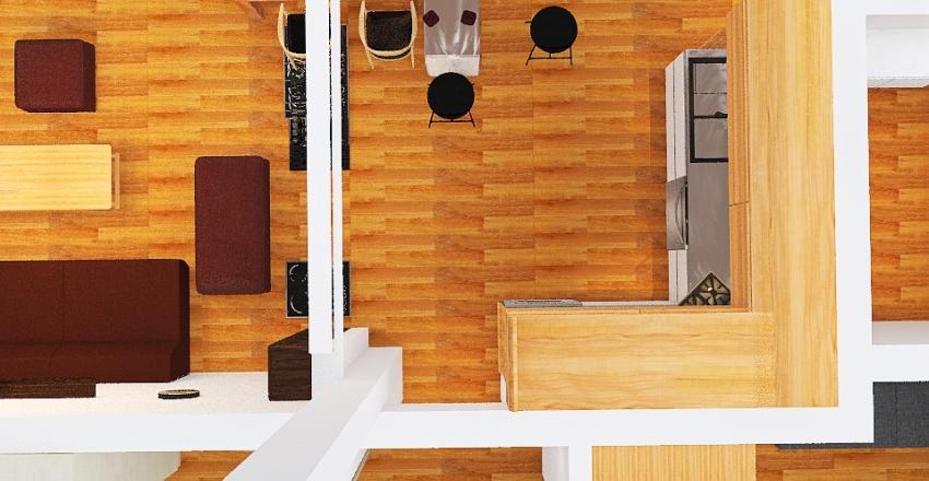 Z wyspą Interior Design Render