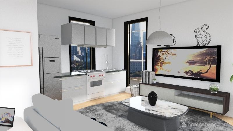 City Aparment Interior Design Render