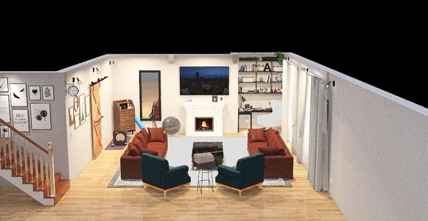 MULTI GENERALTIONAL LIVING ROOM Interior Design Render