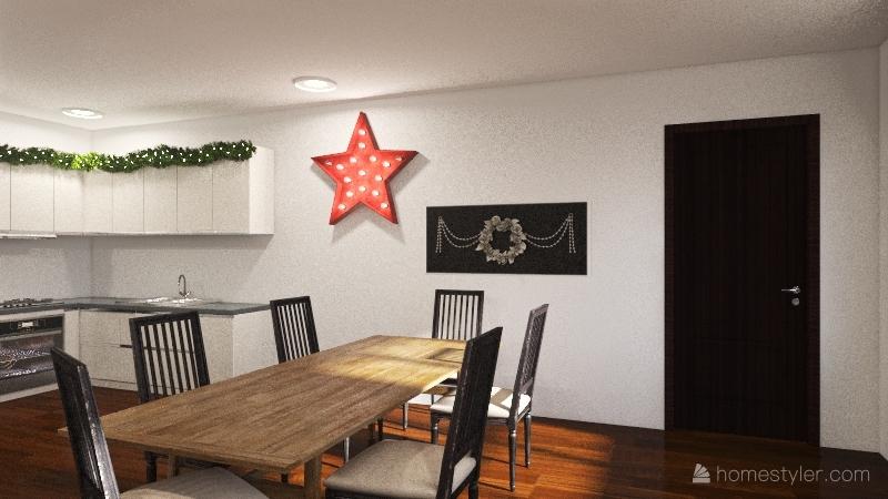 NYC Holiday Apartment Interior Design Render