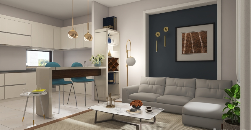 v2_apartment1 Interior Design Render