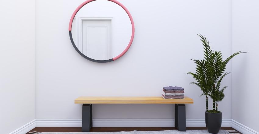 Pink and Violet Interior Design Render