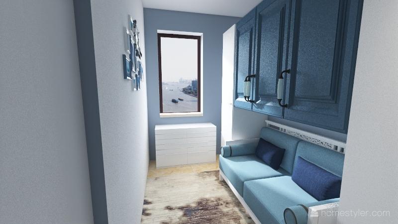 casa al mare Interior Design Render