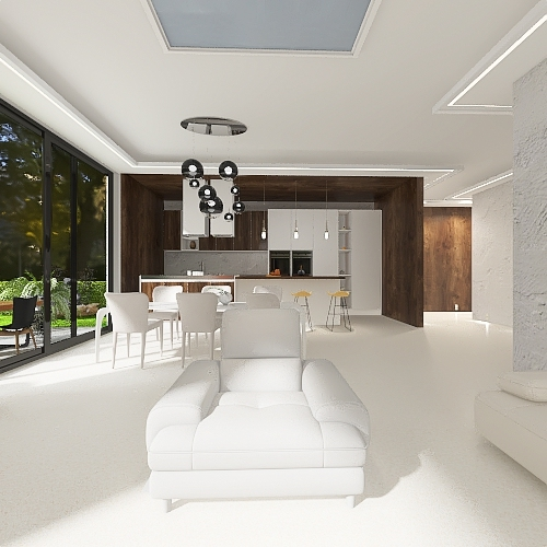 #Contemporary Holidayhouse Interior Design Render