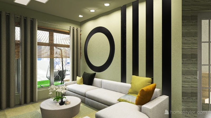 M-4 Home Bahria Town Interior Design Render