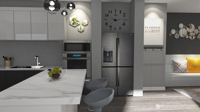 Mood Board Kitchen Design Interior Design Render