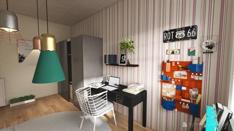 quarto soft Interior Design Render
