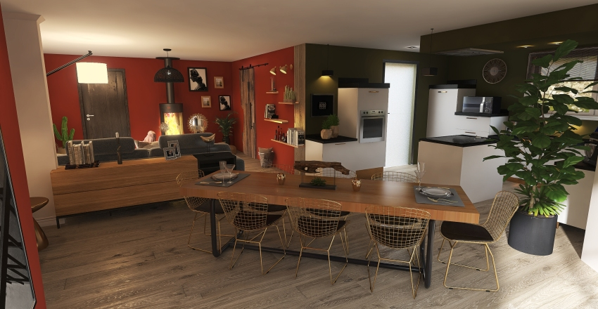 Pièce à vivre - PRO I Interior Design Render