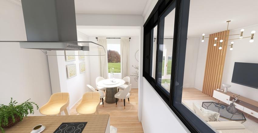Projet Etienne avec meuble et verrierre Interior Design Render