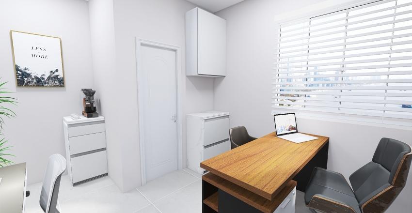 Escritório simples e clean Interior Design Render