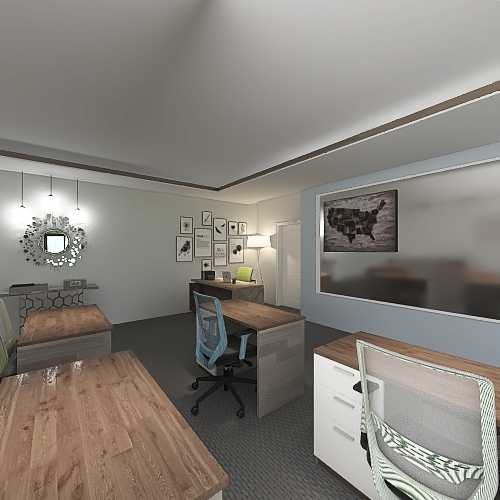 Copy of A More Sustainable and Ergonomic Learning Experience Interior Design Render