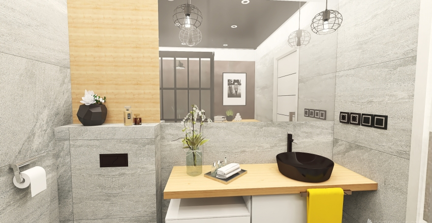 Small flat in loft style Interior Design Render