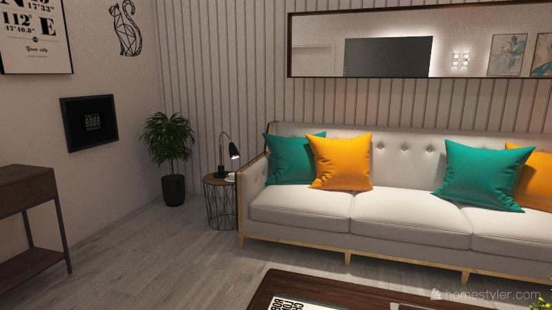 Repouso e um café. Interior Design Render