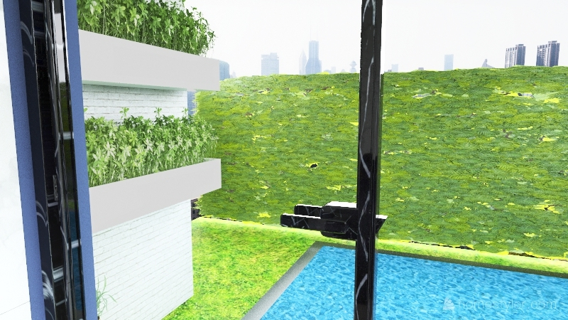 Pool house with pool.1 Interior Design Render