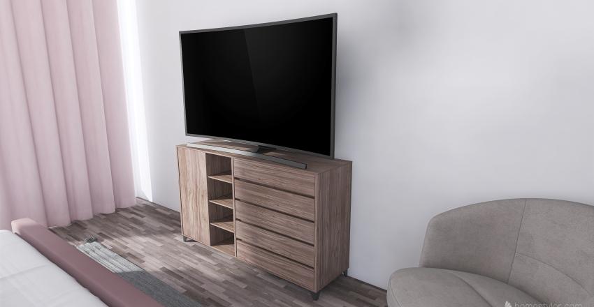 Simple Blush Suite Interior Design Render