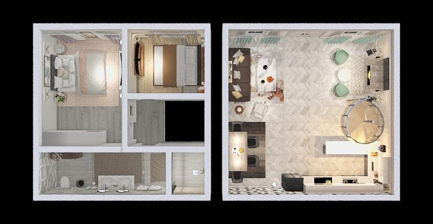 Locuinta de vacanta Interior Design Render