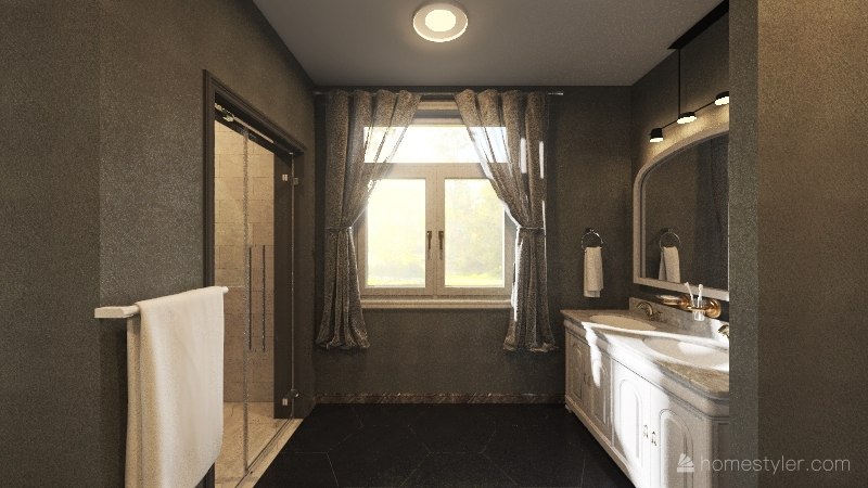 My Dream Bathroom Interior Design Render